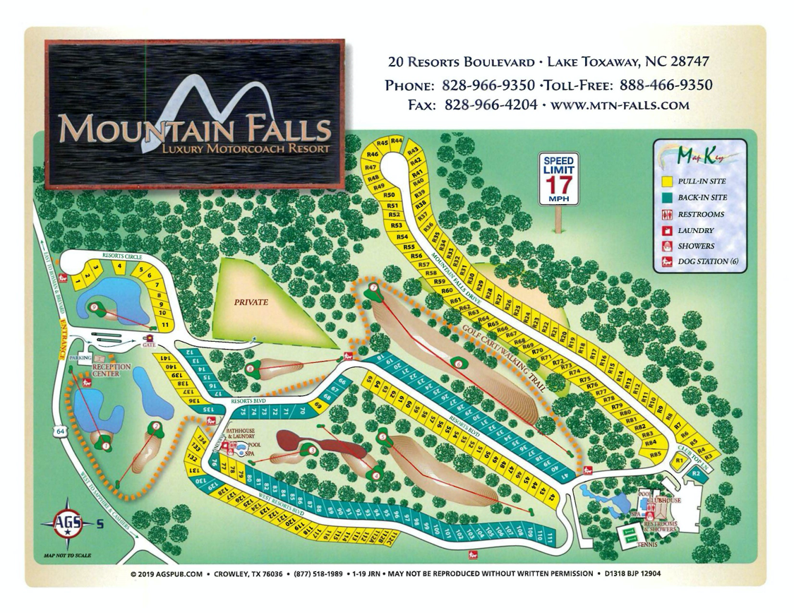 Mountain Falls Resort Map